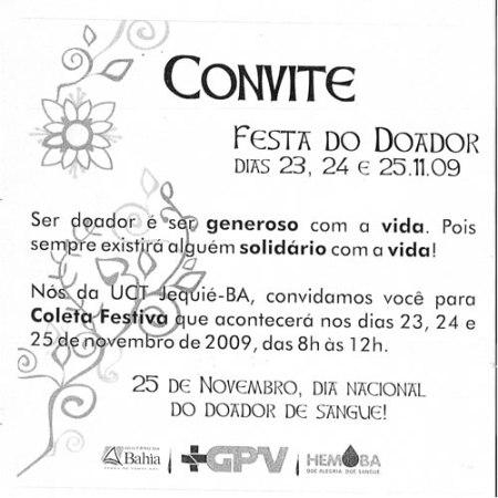 FESTA DO DOADOR